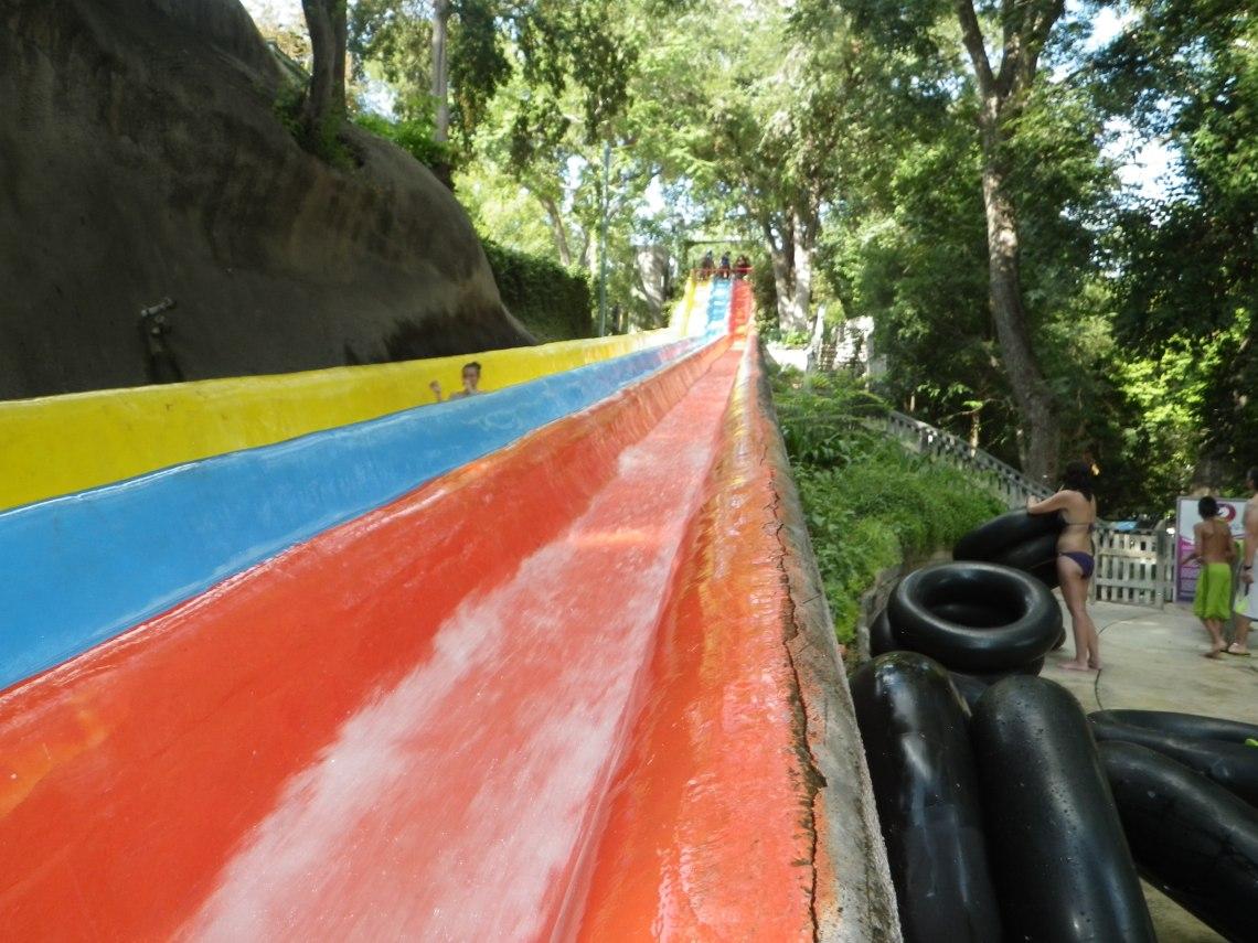 Schlitterbahn Waterpark Slides in the original waterpark in New Braunfels