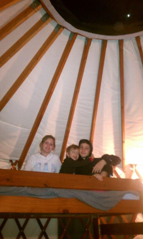 camping in yurt
