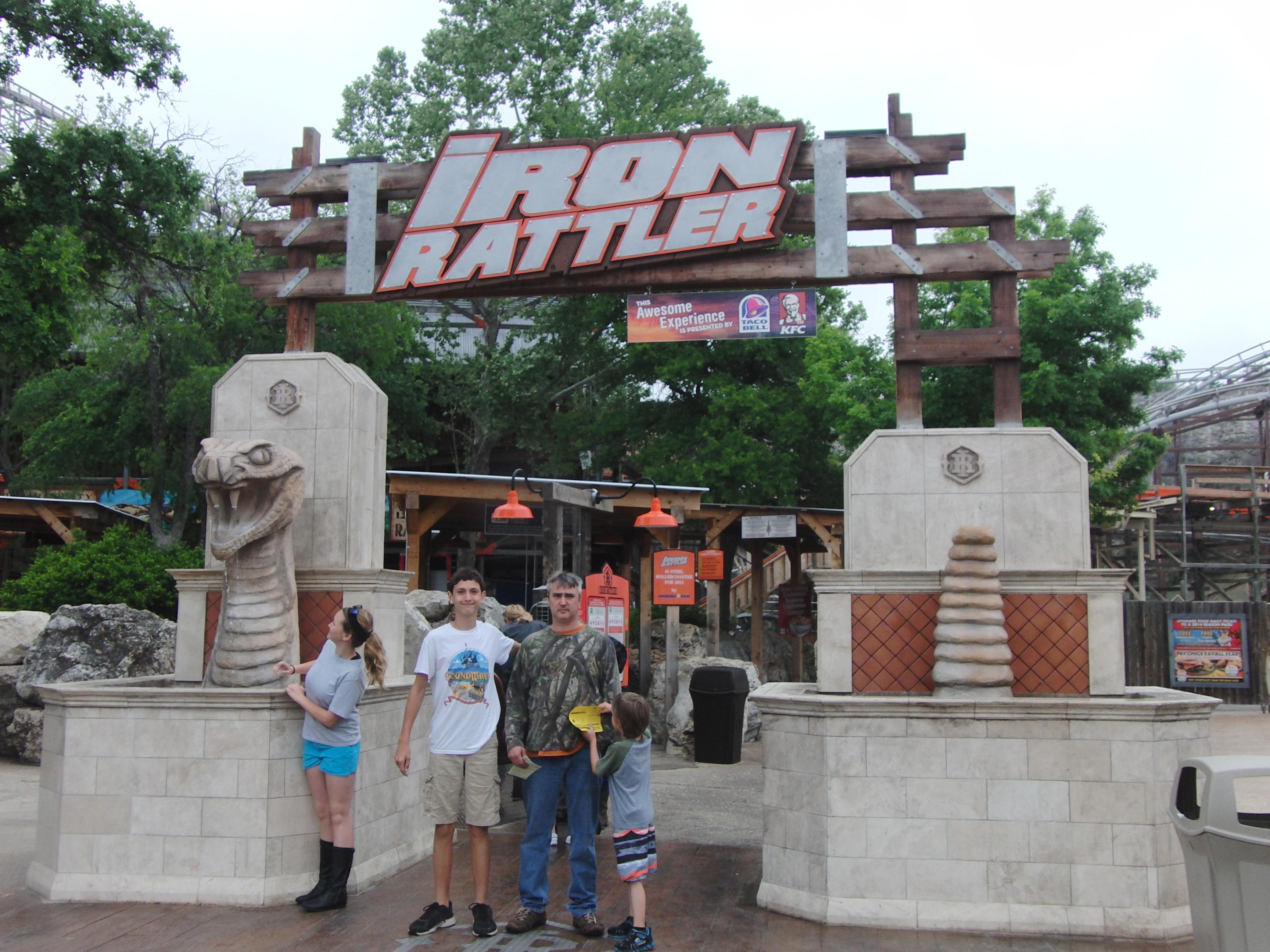 Six Flags Fiesta Texas Iron Rattler