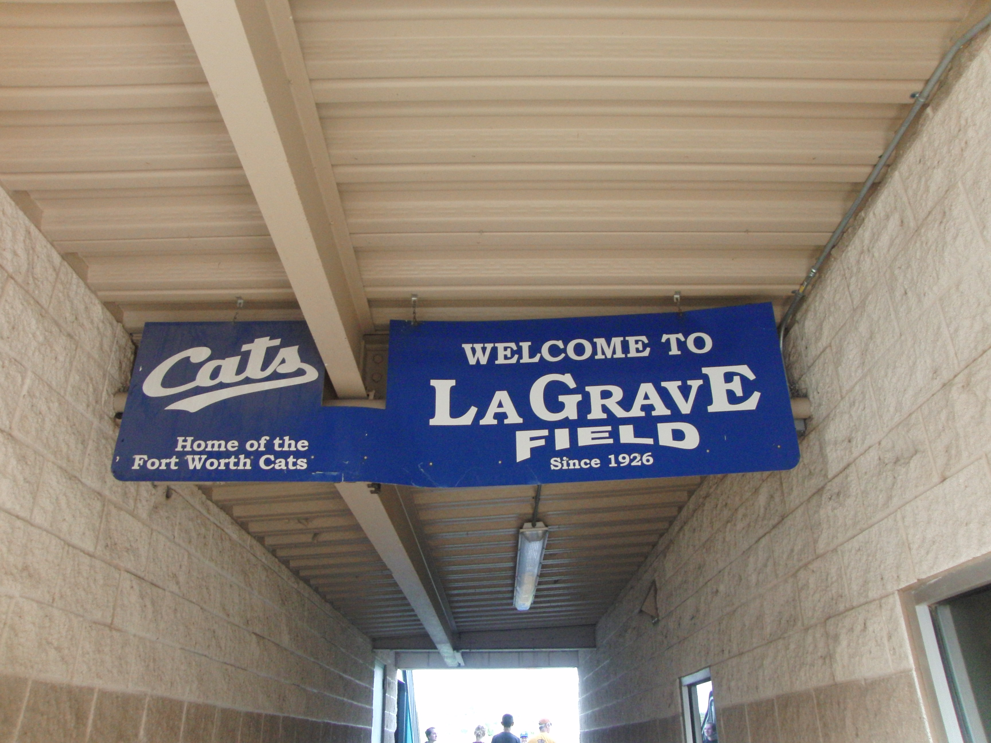 fort worth cats baseball game  lagrave field