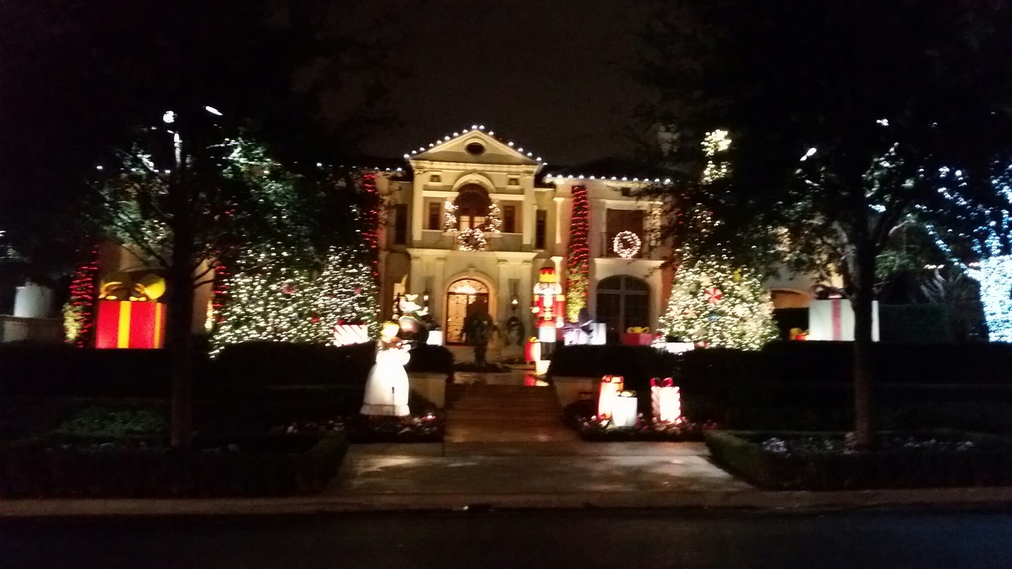 Elegant Christmas Lights Sparkle In The Night As You Drive Down The Street.  Wpid 20141226_194952 Awesome Ideas