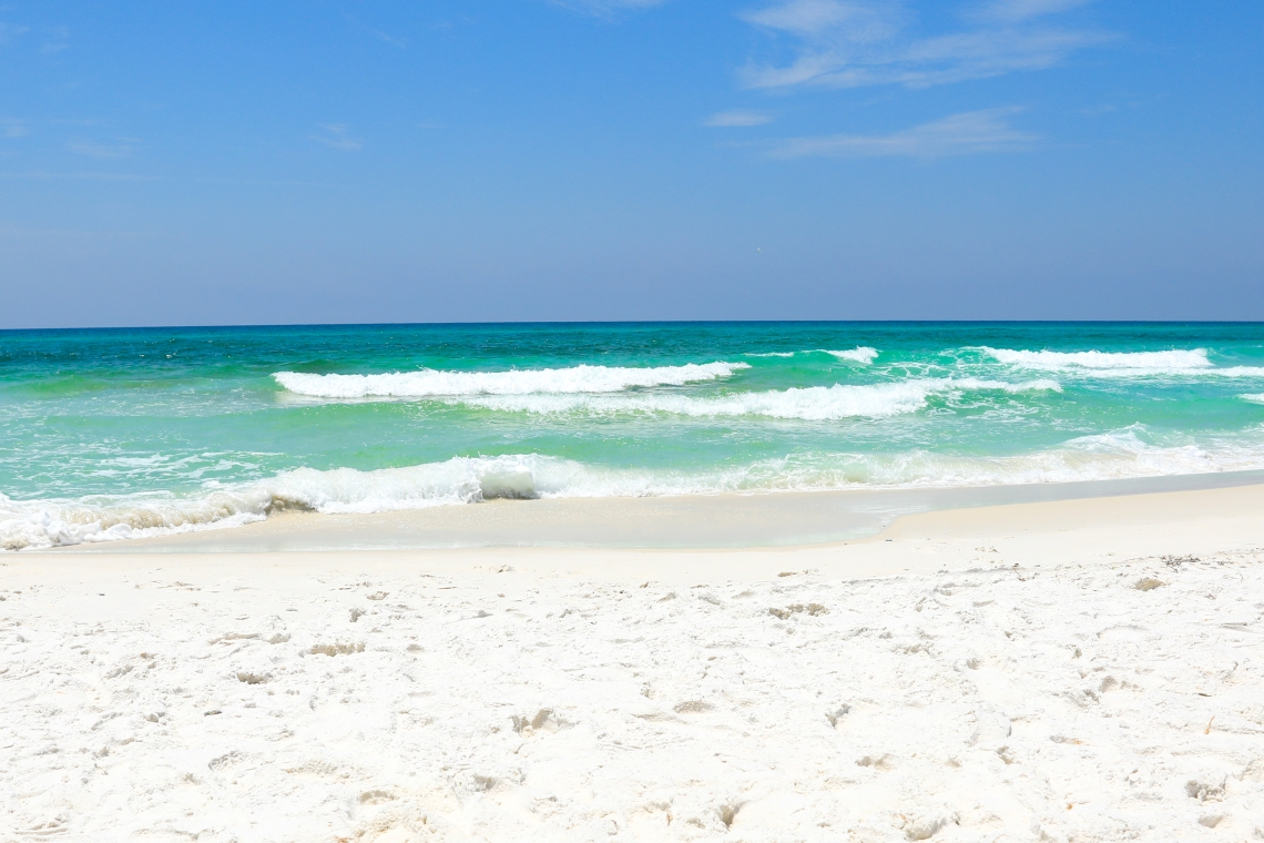 Sunny Summer day at the beach in Destin, Florida