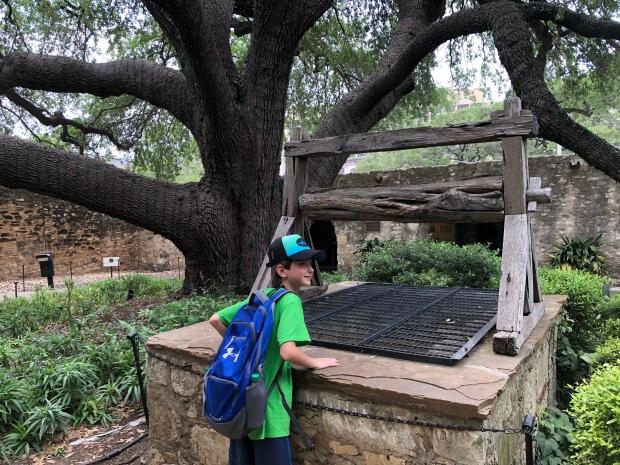 Wishing well at the Alamo