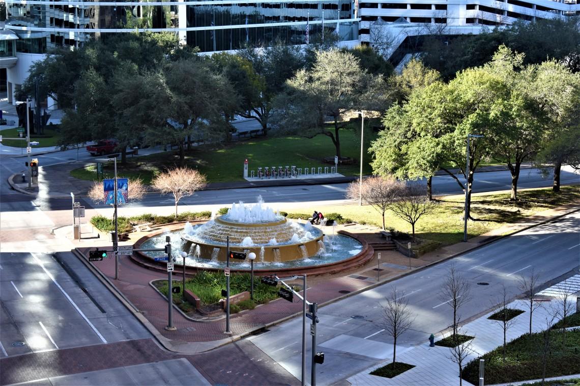 Bob and Vivian Smith Fountain, Downtown Houston