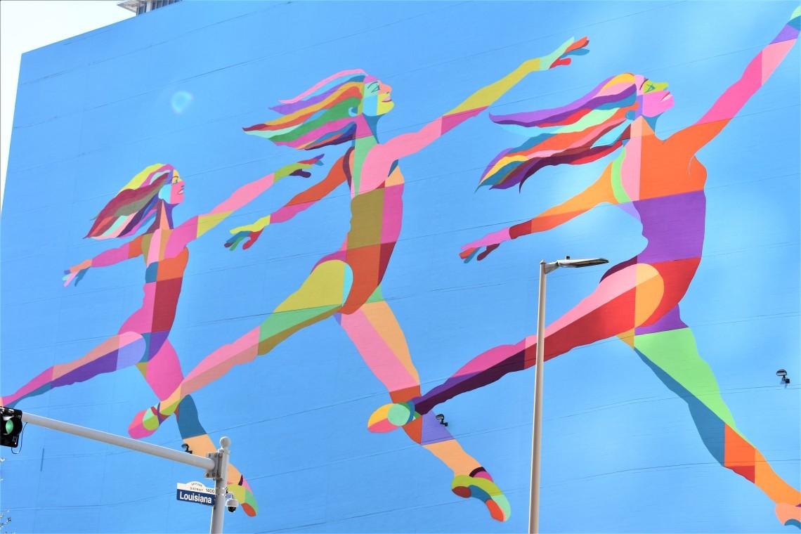 Sky Dance Mural Downtown Houston