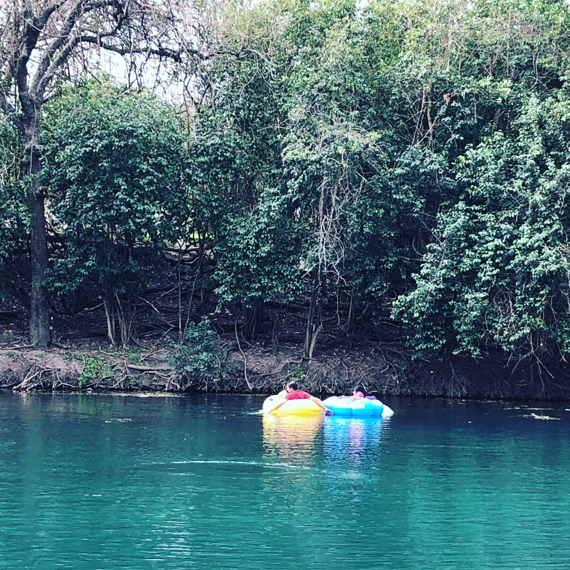 Tubing on the Comal River in New Braunfels