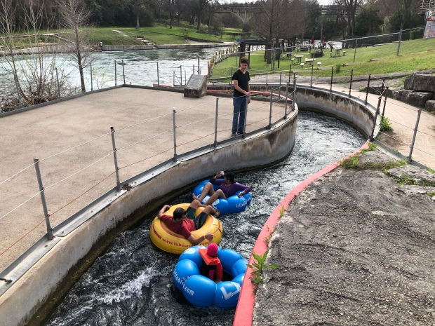The Tube Chute on the Comal River in New Braunfels