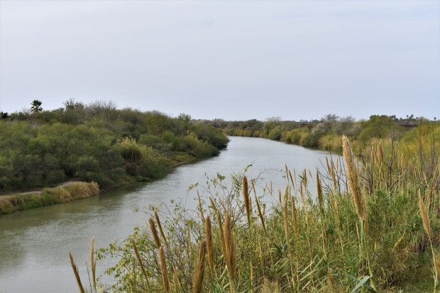 Rio Grande River separates the United States and Mexico in Progreso, Tx. and Nuevo Progreso