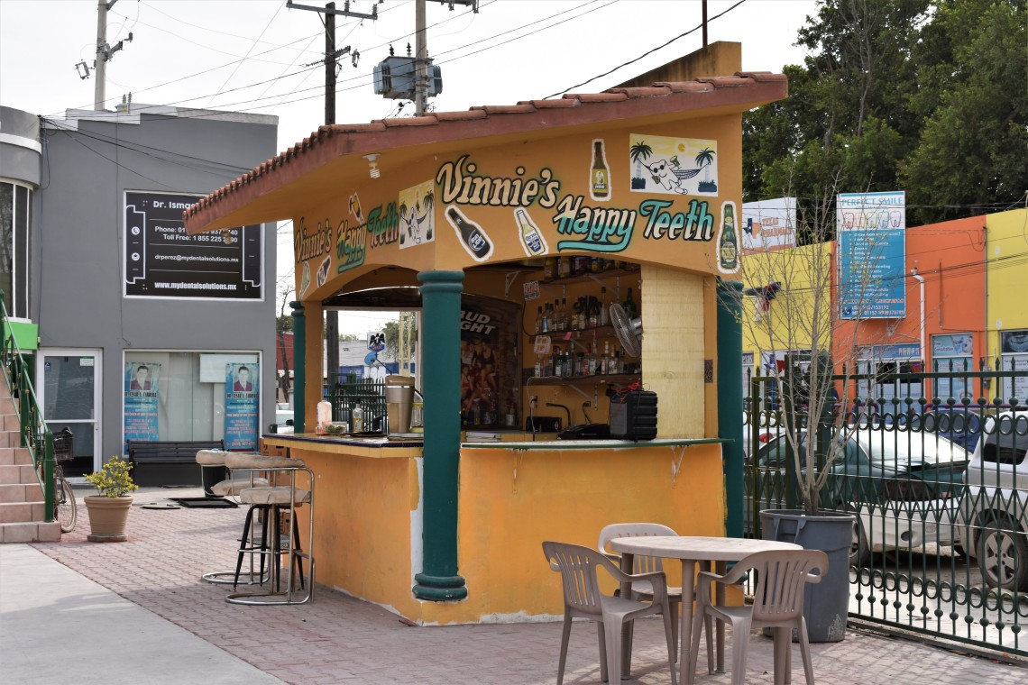 Vinnie's Happy Teeth Bar in the Plaza Rincones de Mexico in Nuevo Progreso, in the state of Tamaulipas, Mexico