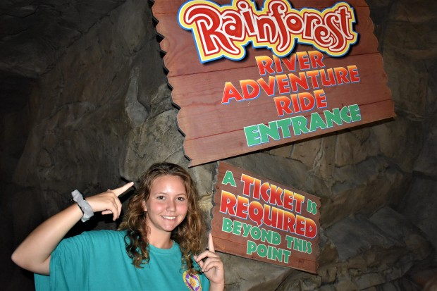 Rainforest Cafe in Galveston River Adventure Ride