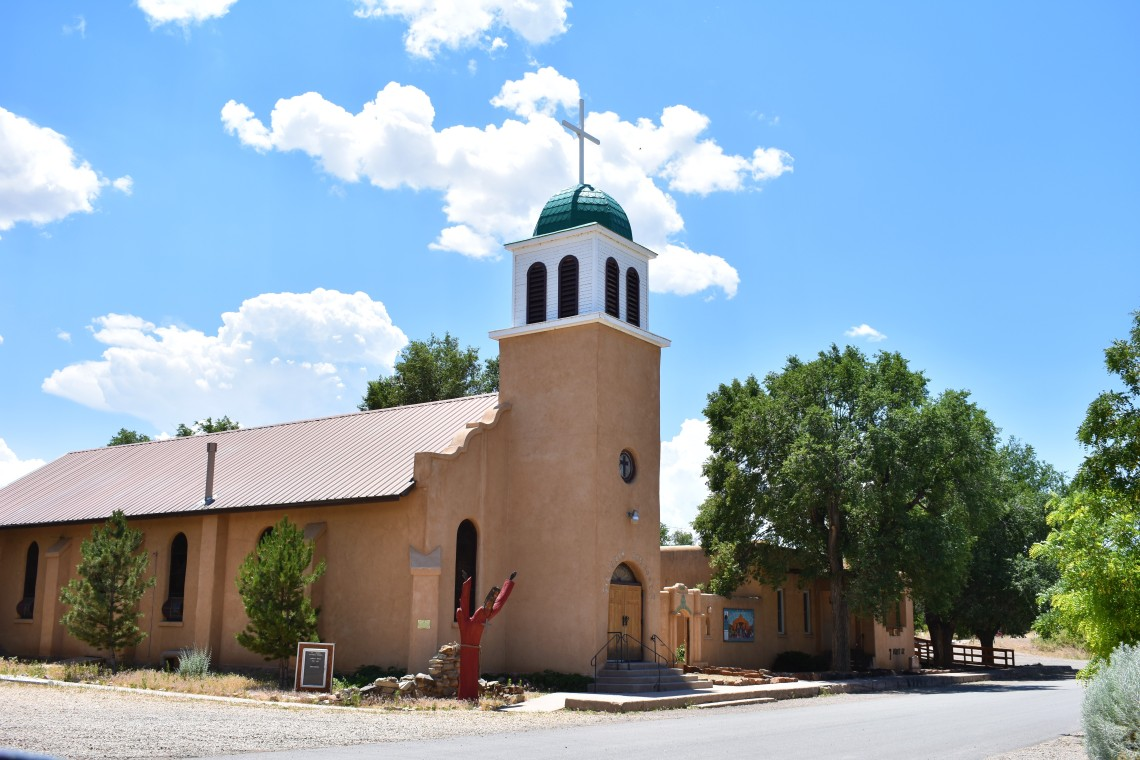 St. Joseph's Church and New Mexico Painted Trees Cerrillos