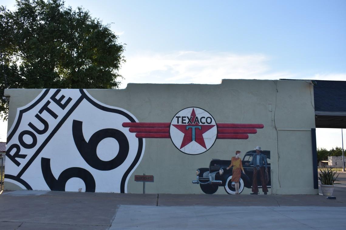 Historic Texaco Gas Station in Tucumcari New Mexico