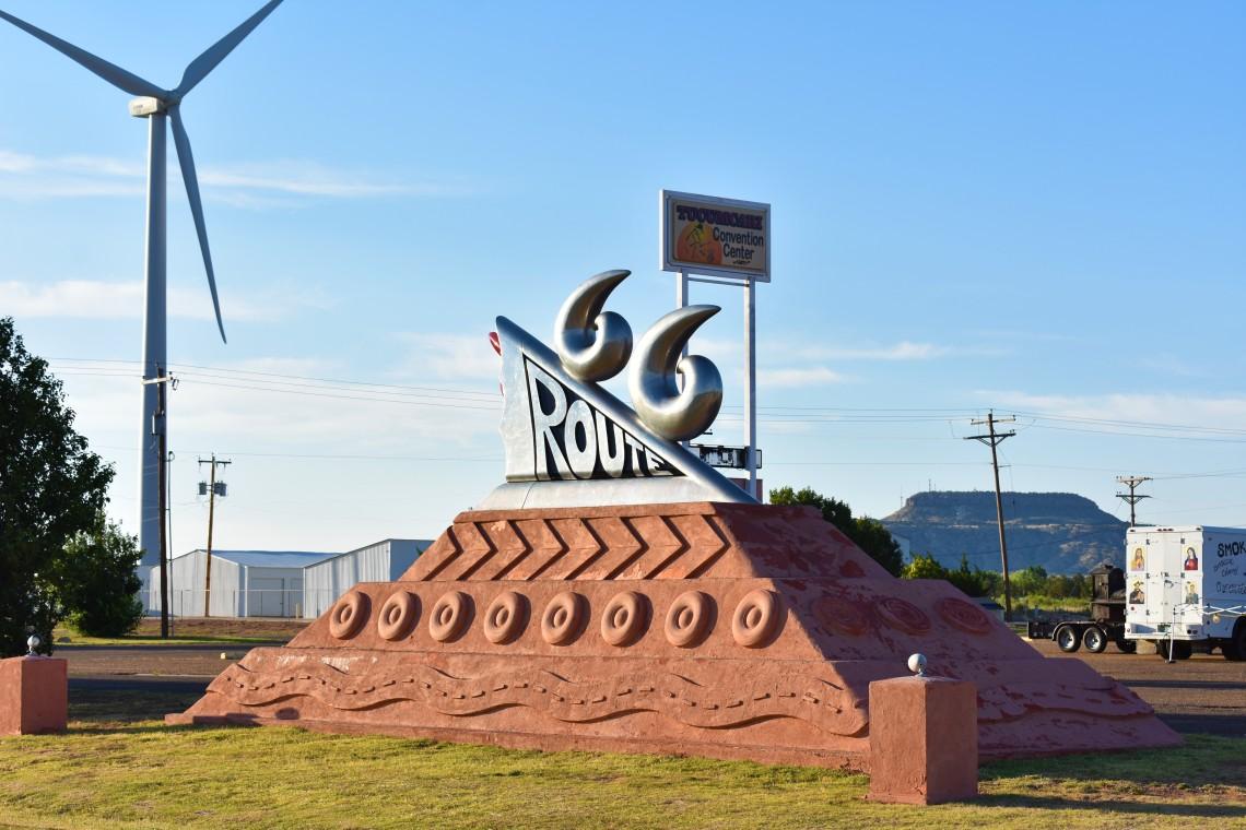 Route 66 Memorial in Tucumcari New Mexico