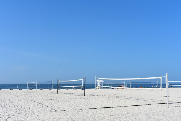 Public beach at Gulf Shores Alabama