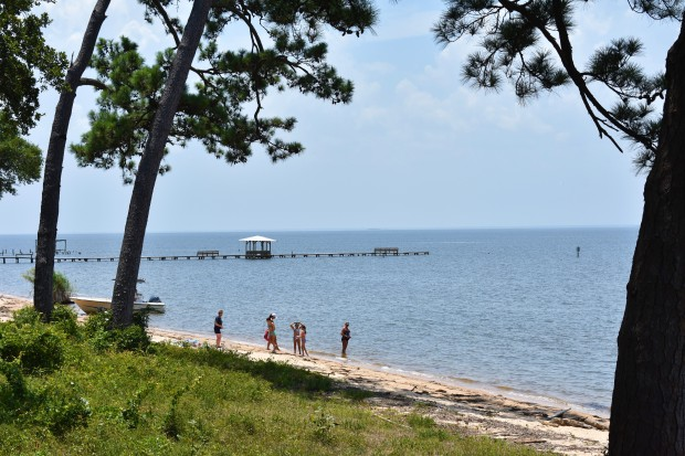 Beach along Mobile Bay
