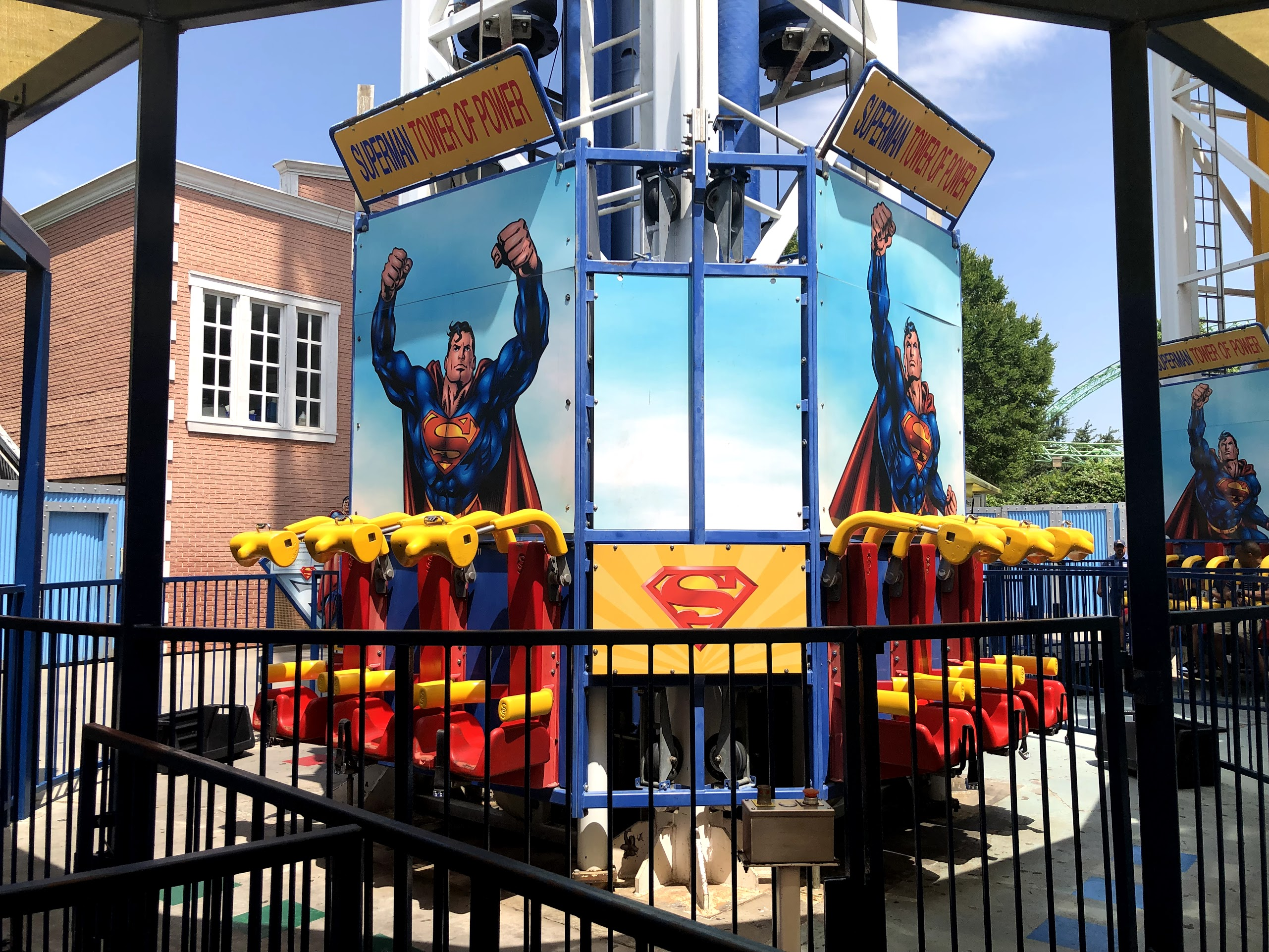 The Superman ride at Six Flags Over Texas in Arlington