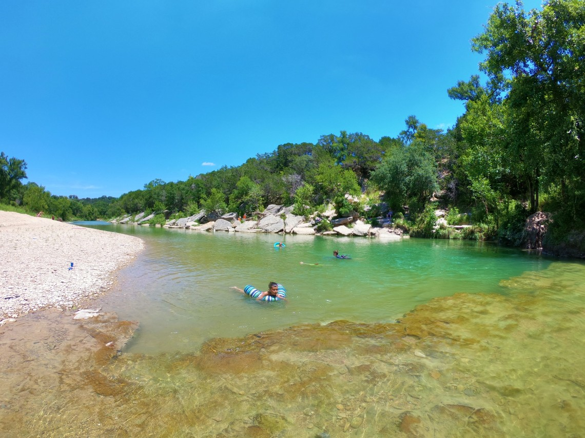 The Blue Hole in Dinosaur Valley State Park