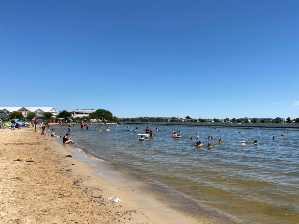 Lake Granbury City Beach park Texas