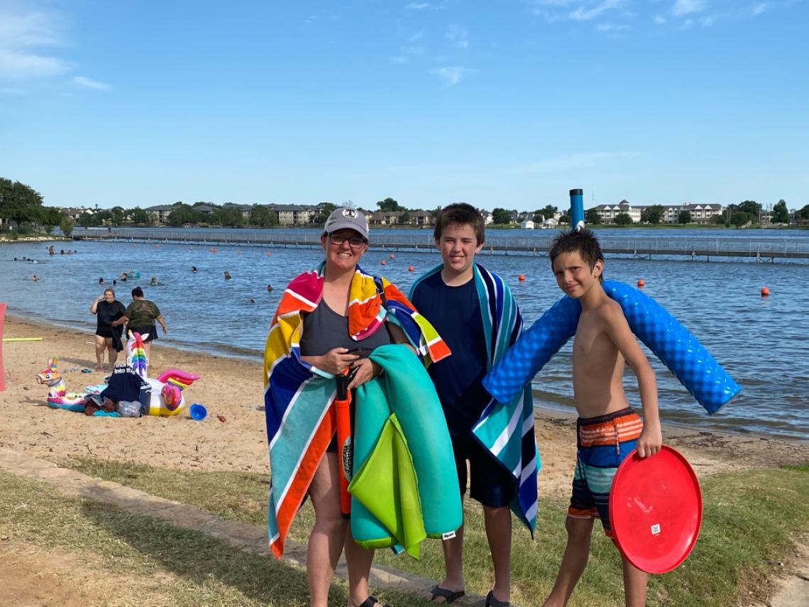 Lake Granbury City Beach Park Swimming Texas